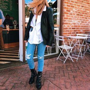 LF CARMAR ripped high waisted skinny jeans